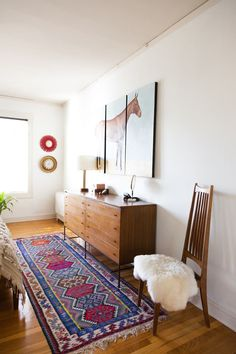 Name: Sara and Rich Combs Location: Marina District — San Francisco, CA Size: 850 square feet Years lived in: 6 years; Rented Having collected each piece in their apartment one-by-one over the last six years, Sara and Rich Combs have created a home with a distinctly colorful, eclectic feel. Gravitating towards sleek, Mid-century silhouettes and furniture design, the couple have designed each room to pay homage to the bygone era in its own way, all while maintaining a modern spin. The space…
