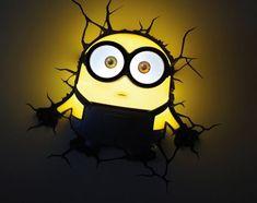 Buy Minion Deco Light - Bob at online store Minion Room Decor, Minion Bedroom, 3d Wall Art, Art Wall Kids, Art Kids, Bedroom Themes, Kids Bedroom, Bedroom Ideas, Bedrooms