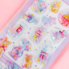 Candy Jars & Bottles Puffy Stickers Kawaii Shop, Kawaii Cute, Kawaii Gifts, Kawaii Things, Cute Candy, Kawaii Stationery, Welcome Gifts, Candy Shop, Candy Jars