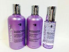 Oligo Blacklight Nourishing Shampoo, Conditioner, & Shine Drops Trio Set