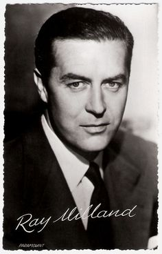 https://flic.kr/p/Bhhh48 | Ray Milland | Dutch postcard by Takken, no. 3446. Photo: Paramount.  British actor and director Ray Milland (1905-1986) had a screen career that ran from 1929 to 1985. He appeared in many Hollywood movies as the archetypal, unflappable British gentleman. Milland is best remembered for his gut-wrenching, Academy Award–winning portrayal of an alcoholic writer in The Lost Weekend (1945), for the murder-plotting husband in Dial M for Murder (1954), and as Oliver…