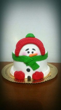 Mini bolo  Boneco de neve