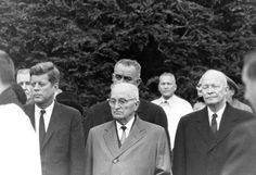 Four presidents (one sitting one future and two former) pay their respects at Eleanor Roosevelt's funeral. Hyde Park NY - November 10 1962.