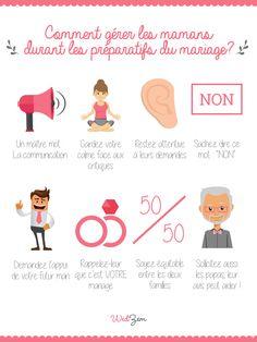 Comment gérer les mamans pour le mariage ? #mariage #infographie