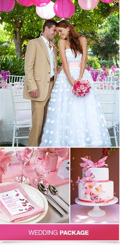 Feeling Pink? You'll love this Flutter Of Romance themed wedding with WeddingMoons by Sandals Resorts.