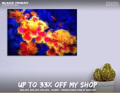 Discover «3D Flowers», Limited Edition Canvas Print by Glink - From $59 - Curioos