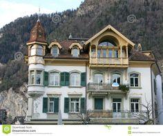 traditional swiss architecture - Google Search Traditional, Mansions, Landscape, Architecture, House Styles, Switzerland, Design, Google Search, Home Decor