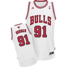 Dennis Rodman jersey-Buy 100% official Adidas Dennis Rodman Men's Swingman White Jersey NBA Chicago Bulls #91 Home Free Shipping.