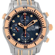 15367 Omega Seamaster 41mm Titanium 18K Rose Gold Mens Watch 2296.80.00 SwissWatchExpo