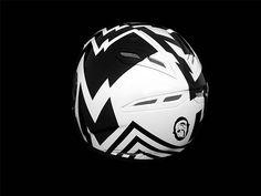 Dazzle Camouflage Motorcycle Helmet