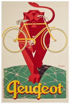 poster // #cycling #peugeot