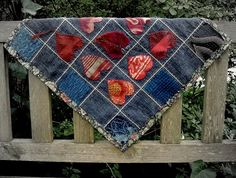 Great denim quilt idea