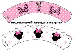 Minnie Rose Complete Kit - With frames for invitations, labels for goodies, souvenirs and pictures! | Making Our Party