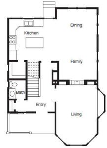 Up House Floor Plan By Bangerter Blders First Floor Hooked On Houses Up Movie House One Floor House Plans Disney Up House