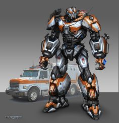 Transformers - Ratchet, Tom Stockwell on ArtStation at http://www.artstation.com/artwork/transformers-ratchet
