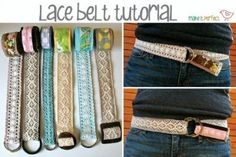lace fabric belts