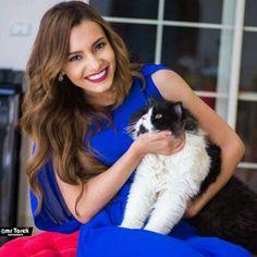 Carmen Suleiman with Kitty