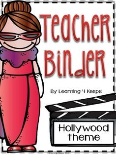 This pack includes 100 pages of covers, lists, forms, and charts for the creation of your own teacher binder! This is a great way to get organized in a super cute Hollywood theme. This pack will be updated each year so buy it once, redownload an updated pack each year in the future!{Please be sure to download the preview to see a close-up of what is included.}You will find the following:Classroom Information Pack            pg 3-15Student Information Pack                pg 16-18Student Data…