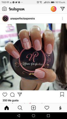 Sencilla Pretty Hands, French Nails, Manicure And Pedicure, Nail Inspo, Summer Nails, Nail Colors, Nail Designs, Polish, Nail Art