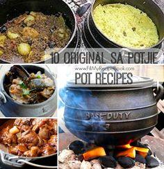 10 Original SA Potjie Pot Recipes - Fill My Recipe Book Braai Recipes, Oxtail Recipes, Spicy Recipes, My Recipes, Cooking Recipes, Recipies, South African Dishes, South African Recipes, Biltong
