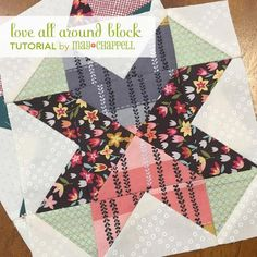 Lately I've been feeling as though there's a lot of negativity going around, from the election to world affairs to right here in our own quilting community. I decided to create a block called Love All