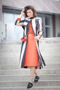 coral-dress_asos-striped-trench-coat_chloe+georgia-bag_park+lane+mules_spring+outfit+ideas