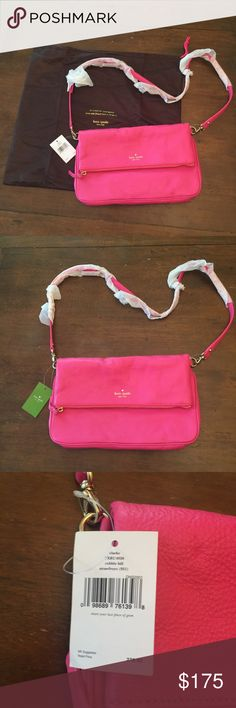 Kate Spade Cobble Hill Brand New!! Never used! Still has original wrapping on shoulder strap and inside zipper pull. Strawberry Froyo color. Inside & outside are pristine. Beautiful!! Kate Spade Bags Crossbody Bags