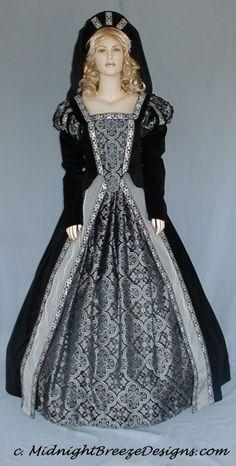 0040583d35b Ladies Renaissance Costume Dress Court Gown