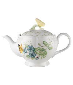 Lenox Butterfly Meadow Floral Porcelain Teapot #Dillards