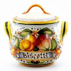 Artistica - Italian Ceramics, Deruta biscotti jar
