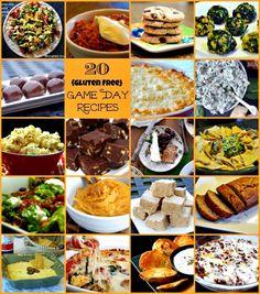 20 Game Day Recipes! #glutenfree #superbowl #gameday #recipes