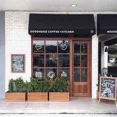 Cafe exterior coffee shop exterior black coffee and red lipstick cafe shop exterior design modern cafe Design Shop, Design Café, Coffee Shop Design, Shop Front Design, Cafe Design, Design Ideas, Bakery Design, Cafe Restaurant, Restaurant Design