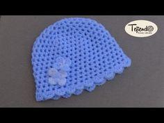 Gorrito con pretina de trenza para bebe (0 - 3 meses) - YouTube                                                                                                                                                                                 Mais