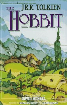 Tolkien, The Hobbit features an illustration of the shire The Hobbit Jrr Tolkien, Hobbit Book, Tolkien Books, Lotr, I Love Books, Great Books, Books To Read, My Books, Story Books