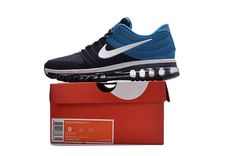 e130987dd0 Nike Air Max 2017 Men Blue Dark Blue Shoes Shoes Men