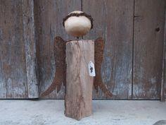 Wonderful wood angel from Ria Holzengel Rostflügel von Ria        auf DaWanda.com