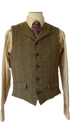 Angus Harris Tweed Waistcoat   with lapels