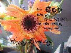 Happy Birthday - Gerbera Birthday Wishes, Happy Birthday, God Bless You, Gerbera, Blessed, Plants, Happy Aniversary, Happy Brithday, Urari La Multi Ani