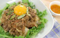 Rice Noodles w/ Curried Meat Sauce ก๋วยเตี๋ยวเนื้อสับ Recipe & Video