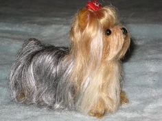 NEEDLE FELTED DOG~ CUSTOM PET PORTRAIT~Yorkshire Terrier/Yorkie~ by Gourmet Felted~TIFFANY by Gourmet Felted, via Flickr