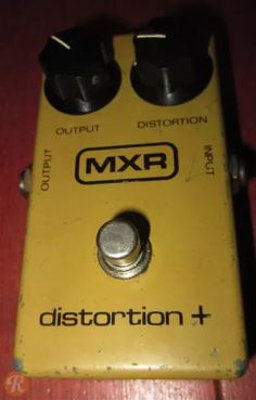 Some of the best distortion sounds ever. Mxr Distortion, Guitar Effects Pedals, Pedalboard, Guitar Amp, Guitars, Kit, Guitar Pedals, Guitar