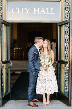 Vestido de noiva alternativo - Vestido midi bordado - Foto pinterest