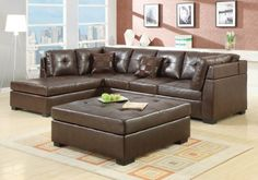 Coaster Darie Sectional (Brown) 500686