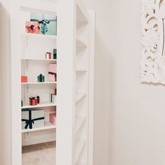 """Kiki Koerner, REALTOR® on Instagram: """"Did y'all have a fabulous Prime Day?!! I'm thinking a secret room for all my packages is going to be necessary. 📦 I swear I do not have a…"""" Hidden Rooms, Secret Rooms, Bookcase, Shelves, Home Decor, Instagram, Shelving, Decoration Home, Room Decor"""