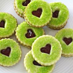 Grinch Heart Raspberry Filled Sugar Cookies recipe on Food52