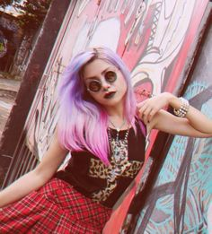 Tartan Grunge Goth Dark Fashion #NitroFash