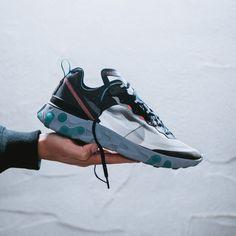 big sale 3792f e39b5 Nike React Element 87 Black   Neptune Green