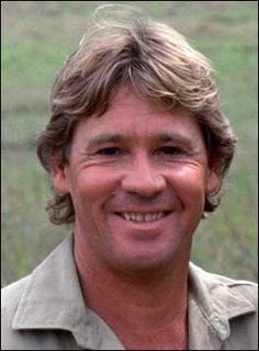 "Steve Irwin (22/2/62 - 4/9/06) Age: 44 Died while filming ""Oceans Deadliest"" by a massive stingray. Married to Terri 1992-2006. They had 2 children, Bindi and Robert. Best known for being the Crocodile Hunter and his many rescues of all kinds of animals. Terri Irwin, Steve Irwin, Irwin Family, Crocodile Hunter, Bindi Irwin, Celebs, Celebrities, I Miss Him, Western Australia"
