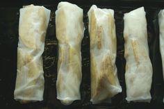 Baked Apple Pie Rice Paper Rolls