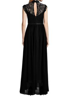 5d034912610 Miusol Women s Formal Floral Lace Sleeveless Evening Party Maxi Dress  (XX-Large